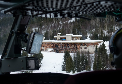 Monashees Lodge from the Air