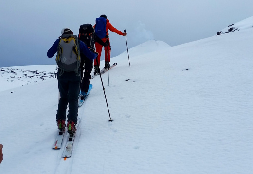 climbing-up-the-flanks-of-volcan-villarrica-smoking-cone-in-the-background 29947601722 o